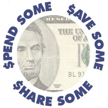 Spend Some Save Some Share Some logo