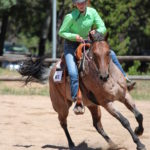 A 4-H member competes in a gymkhana competition