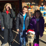 4-H Dog project members dressed up for a Christmas event