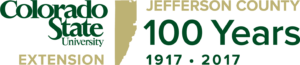 Jeffco Extension 100 year anniversary logo